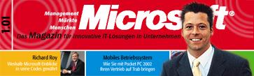 Microsft Magazin Titelseite